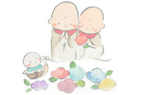 奈良県北僧坊矢田寺の美味しいカレー北僧坊(月てらす)のイラスト